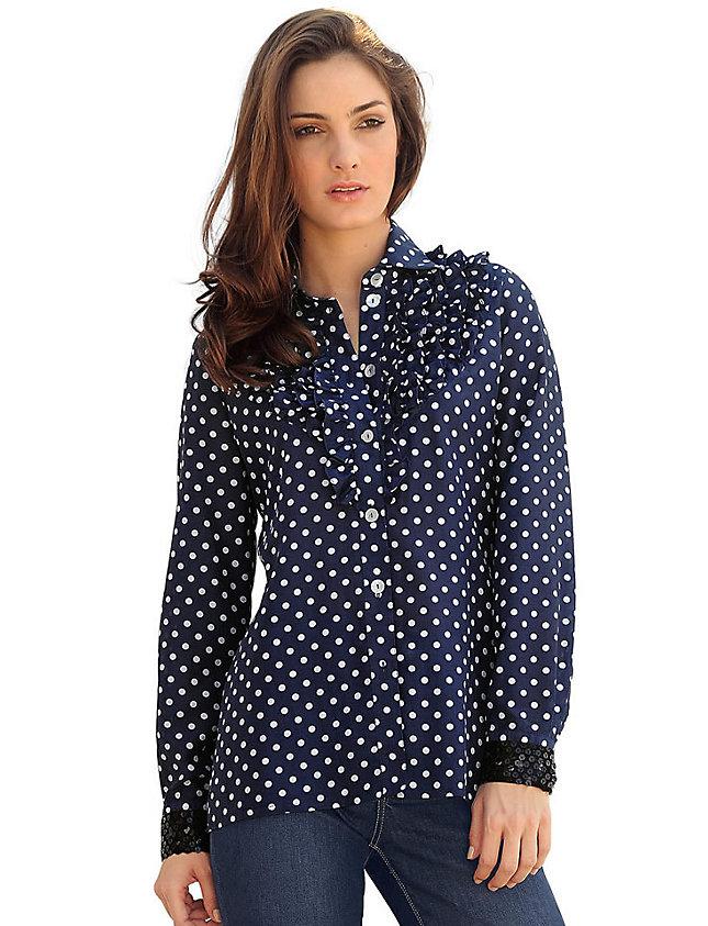 Блузка синего цвета