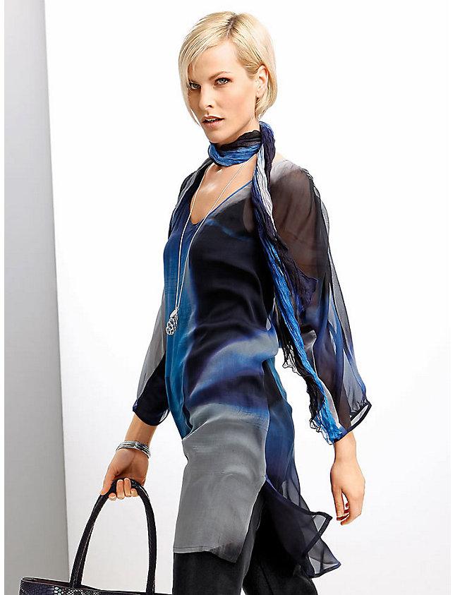 Купить туники, халаты, блузоны, сорочки из шелка, шелк, халаты, блузоны оптом. . Туника, блузон, халат из