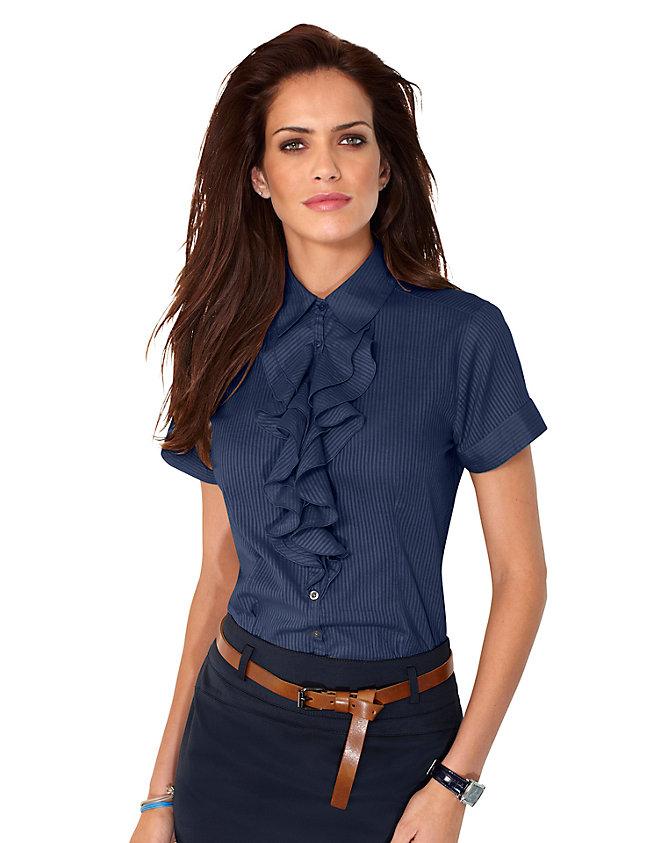 Модные блузки 2011 - блузки с рюшами и воланами фото Мода Романтичности в образе добавят блузки с драпировками