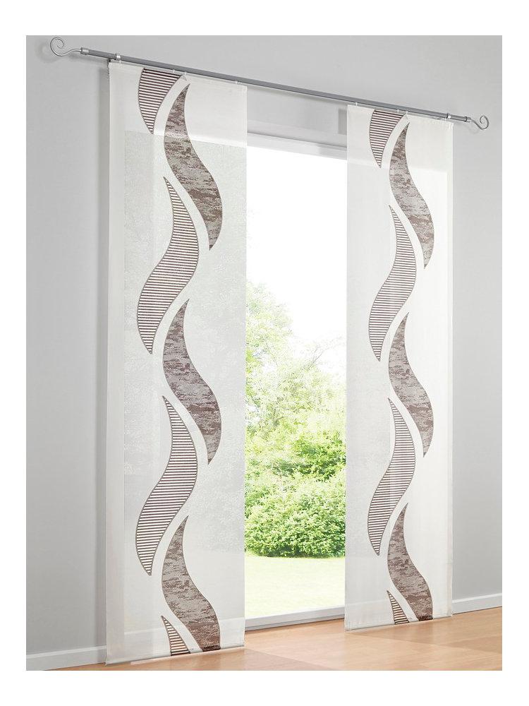 heine home schiebevorhang offwhite braun im heine online shop kaufen. Black Bedroom Furniture Sets. Home Design Ideas