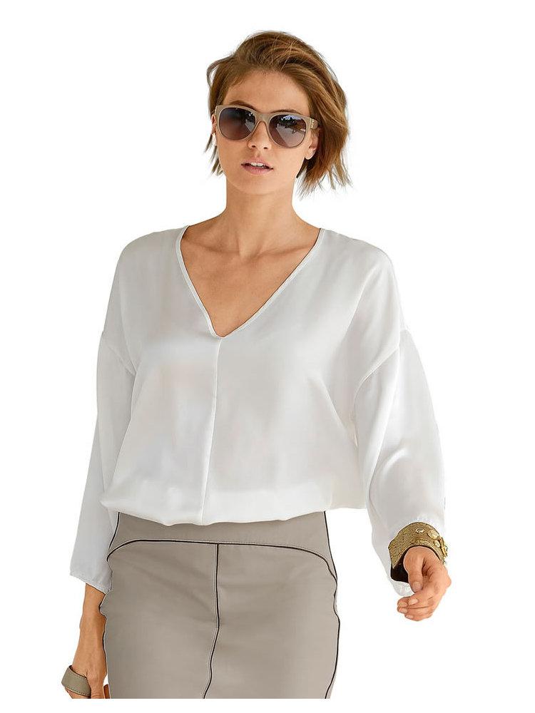 Шелковая Блузка Белая
