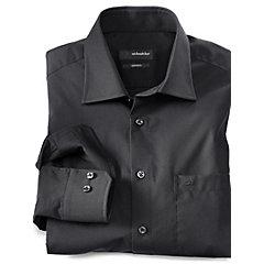 Seidenhemd schwarz von SEIDENSTICKER