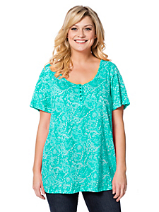 Sheego Casual - sheego Casual T-Shirt in Ausbrenner-Qualität