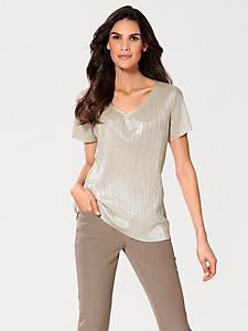 Ashley Brooke - V-Shirt mit Metallic-Effekt