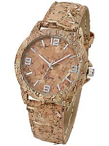 Heine - Armbanduhr aus echtem Kork